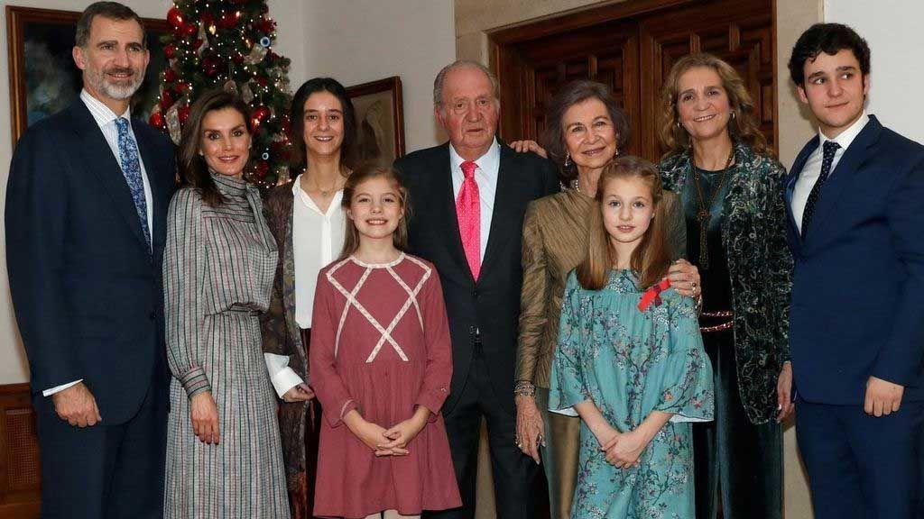 La familia real, en unas Navidades pasadas