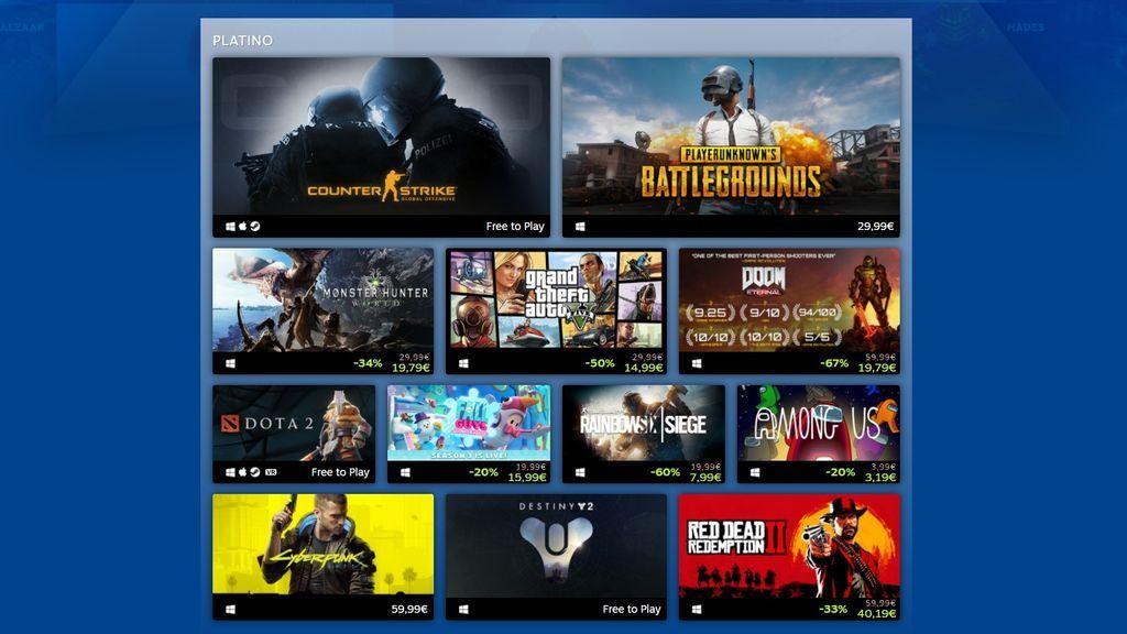 Juegos más vendidos Steam 2020