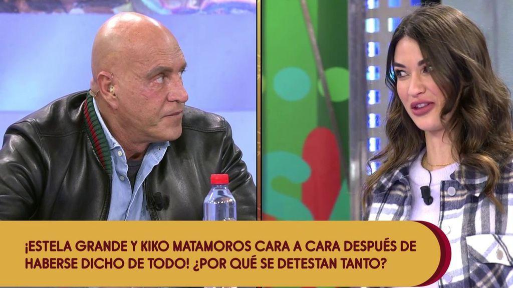 """El incómodo y tenso reencuentro de Estela Grande con Kiko Matamoros: """"Querría haber firmado los papeles del divorcio con Diego hace meses"""""""