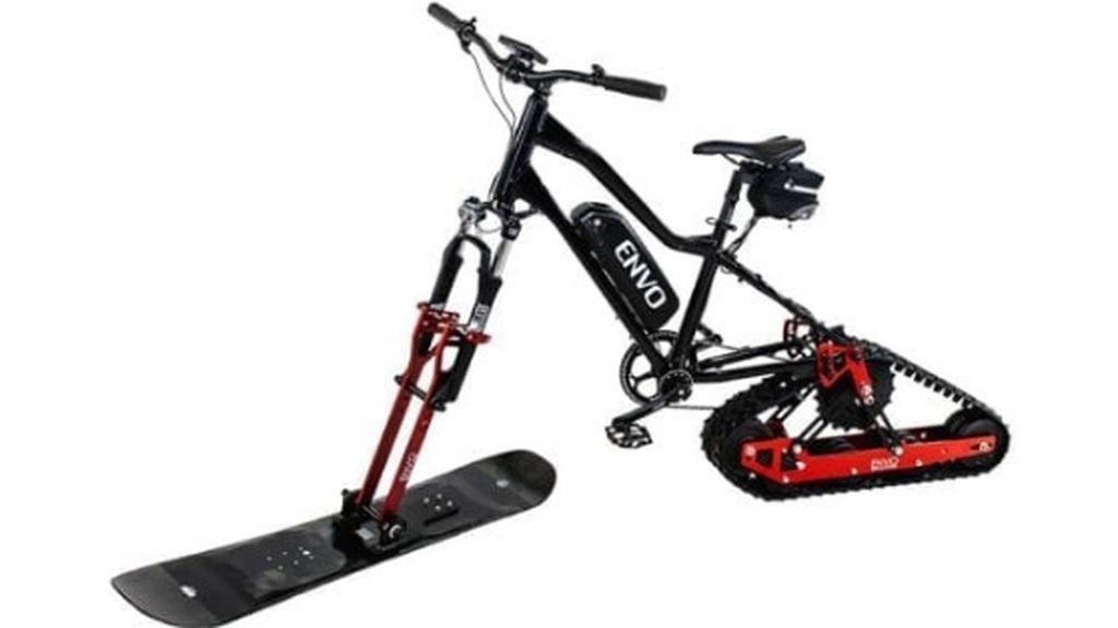 ¿Esquiar en bicicleta? El invento para convertir la que tienes en una eléctrica apta para la nieve
