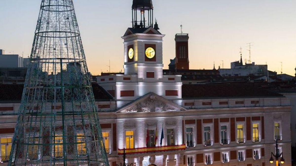 La Puerta del Sol, blindada con seguridad reforzada para evitar aglomeraciones en las 'Preuvas' y en Nochevieja