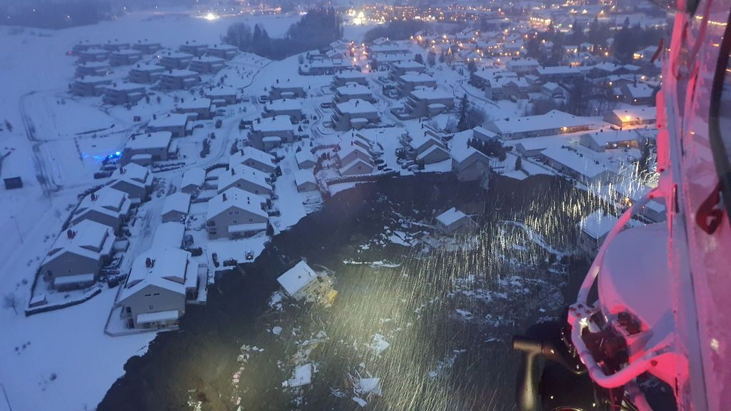 Deslizamiento de tierra en Ask, Noruega
