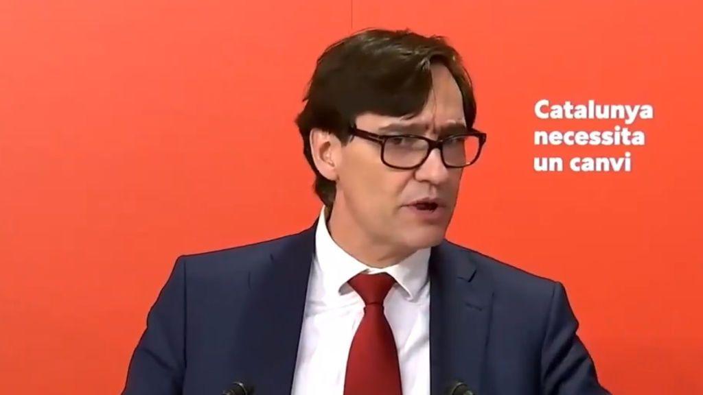 """Salvador Illa acepta la candidatura: """"Soy un servidor público, estoy preparado para presidir Cataluña"""""""