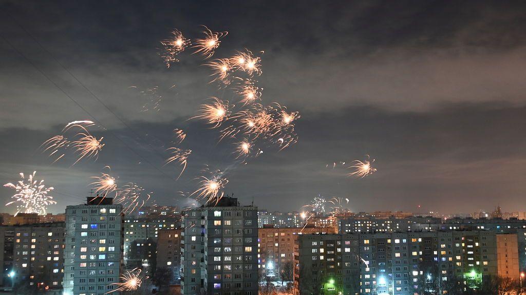 Año nuevo en Omsk (Rusia)