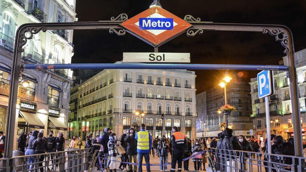 Los horarios de Metro de Madrid, Cercanías y autobuses de la capital para esta Nochevieja