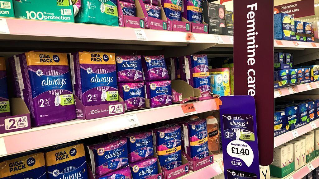El Reino Unido elimina el impuesto que gravaba los productos de higiene femenina tras el Brexit
