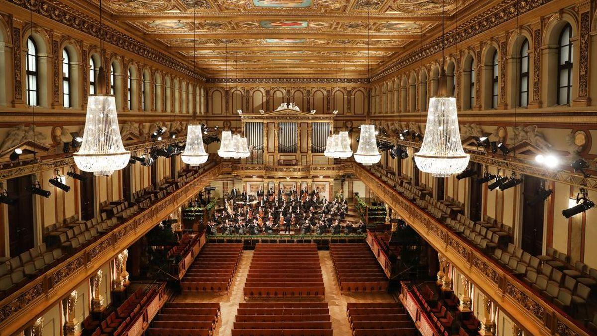 El raro concierto de Año Nuevo de Viena: sin público y músicos sin mascarillas
