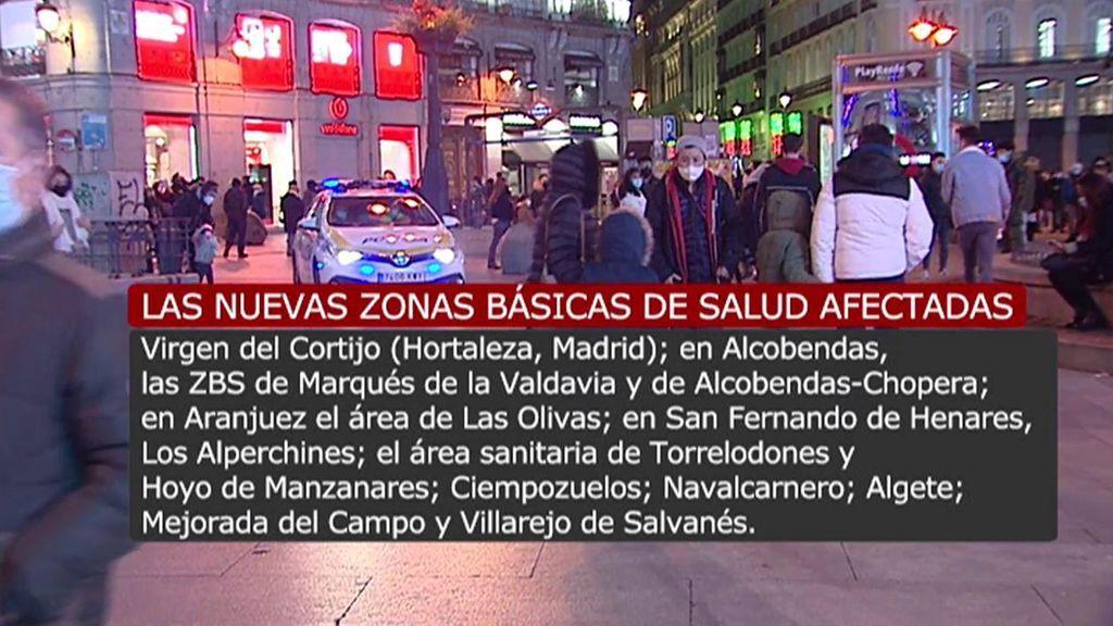 Madrid amplía las restricciones de movilidad en ocho nuevas zonas básicas de salud y cinco localidades