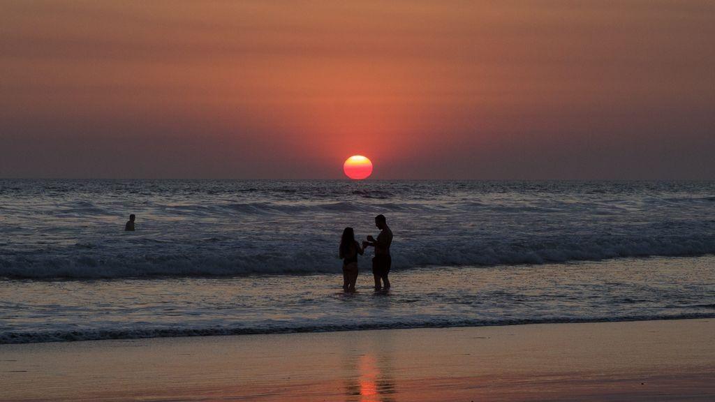 Atardecer en las playas de Nicaragua