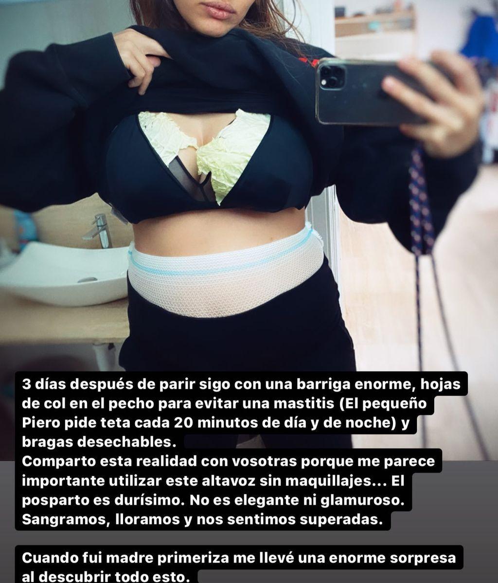 """El """"posparto real"""" de Sara Sálamo"""