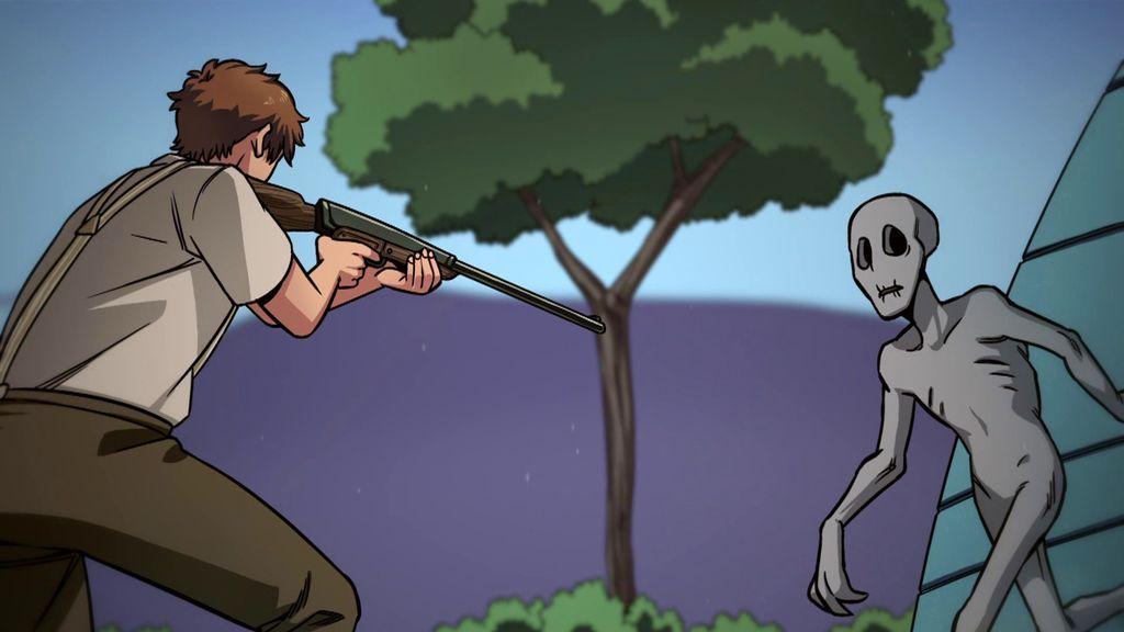 Le pasó esto tras disparar a un humanoide