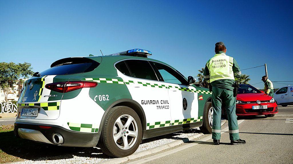 Control de la Guardia Civil en La Línea de la Concepción, hoy