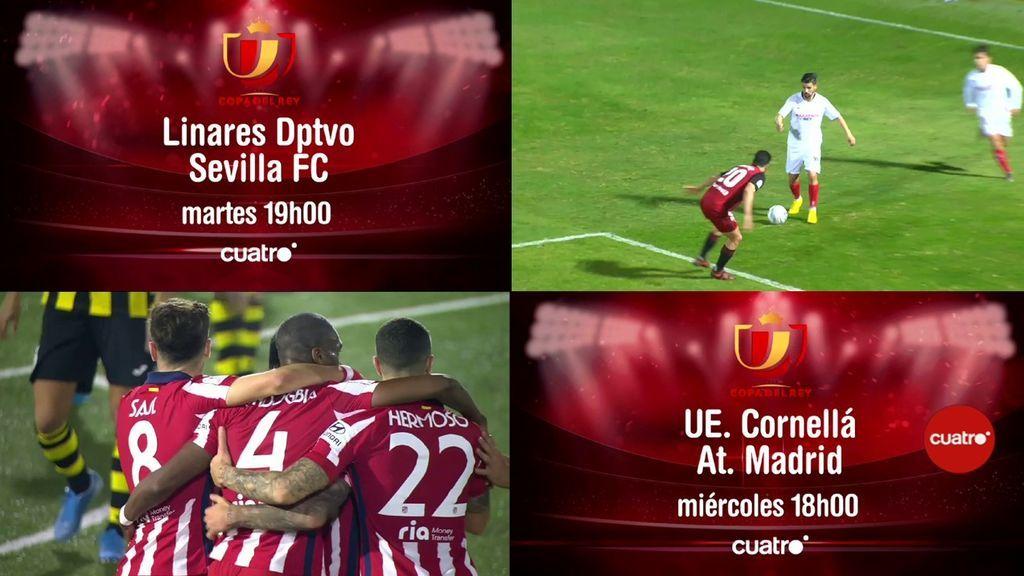 Nuevos encuentros de Copa del Rey, correspondientes a la segunda eliminatoria, mañana y el miércoles en Cuatro