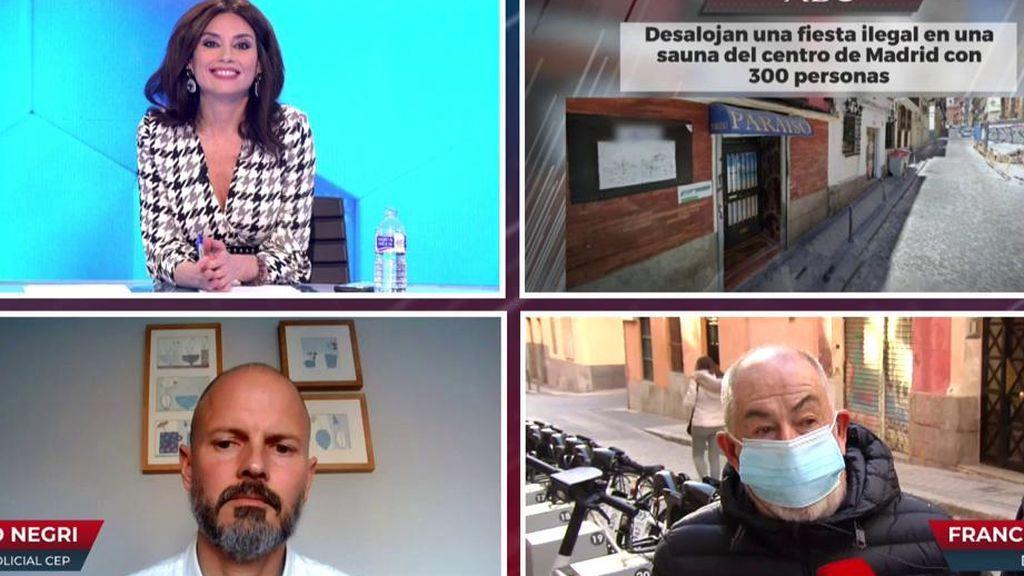 La policía se enfrenta al dueño de la sauna desalojada en Madrid