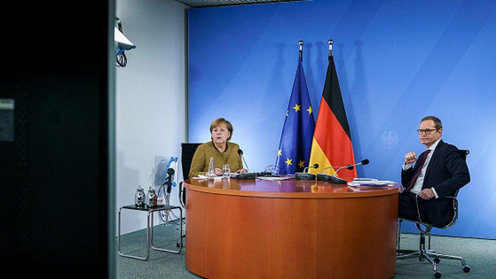 """Merkel prolonga y refuerza su """"confinamiento duro"""" frente al coronavirus"""