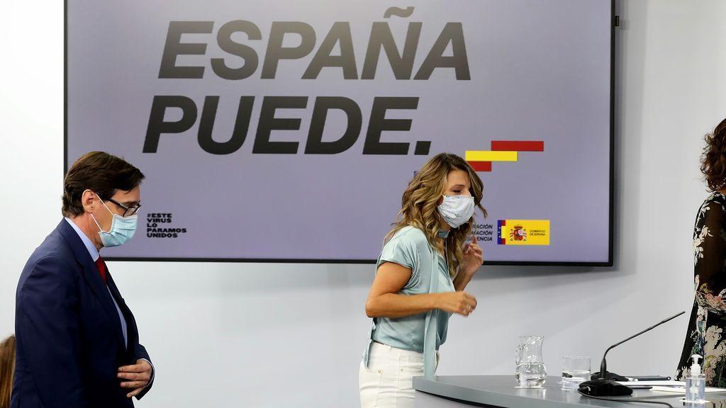 Yolanda Díaz se suma a las voces de la oposición que piden la salida de Salvador Illa de Sanidad