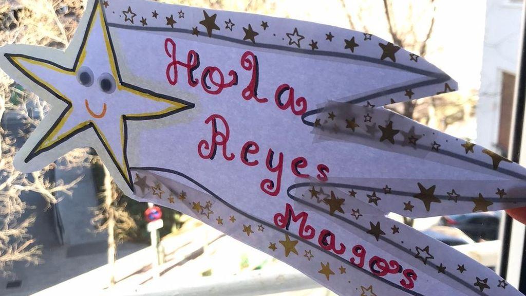 Estrella fugaz Hola Reyes Magos