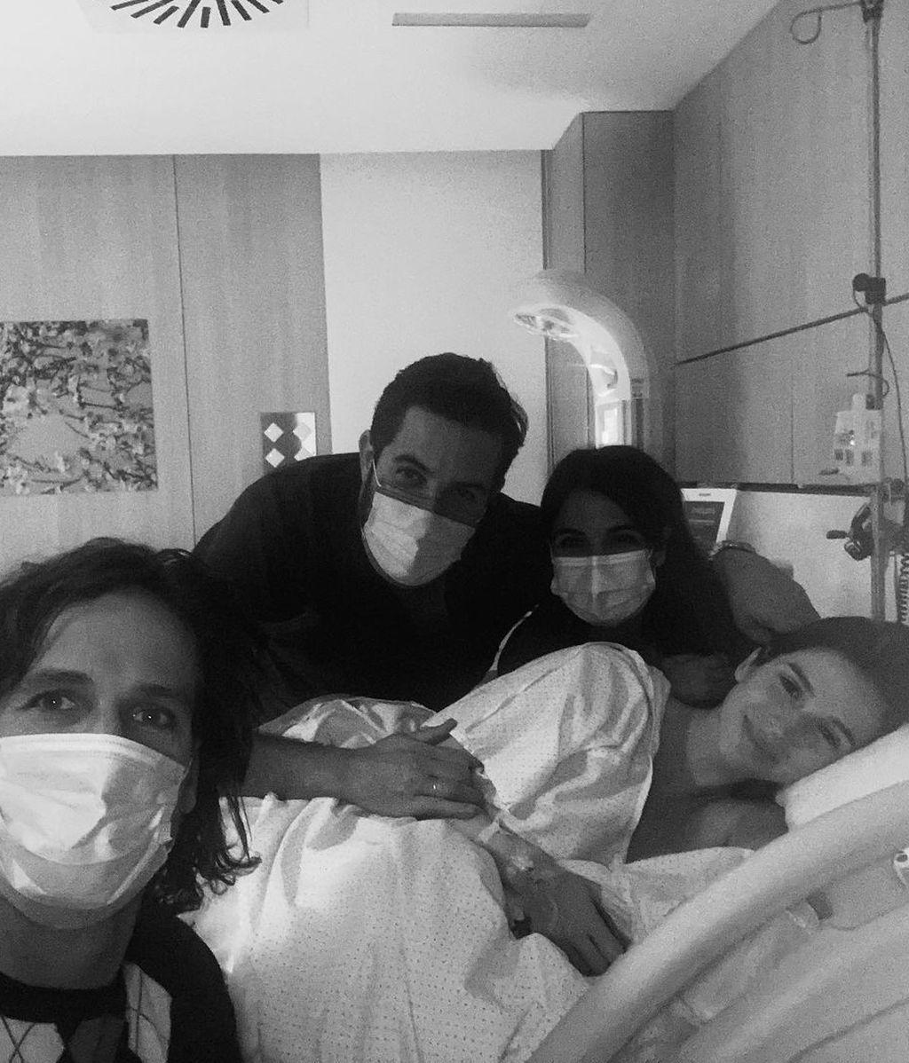 La foto de Feliciano y Sandra en el hospital