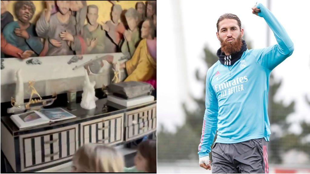 'La última cena' de Ramos: el cuadro del capitán del Real Madrid en donde sustituye a Cristo