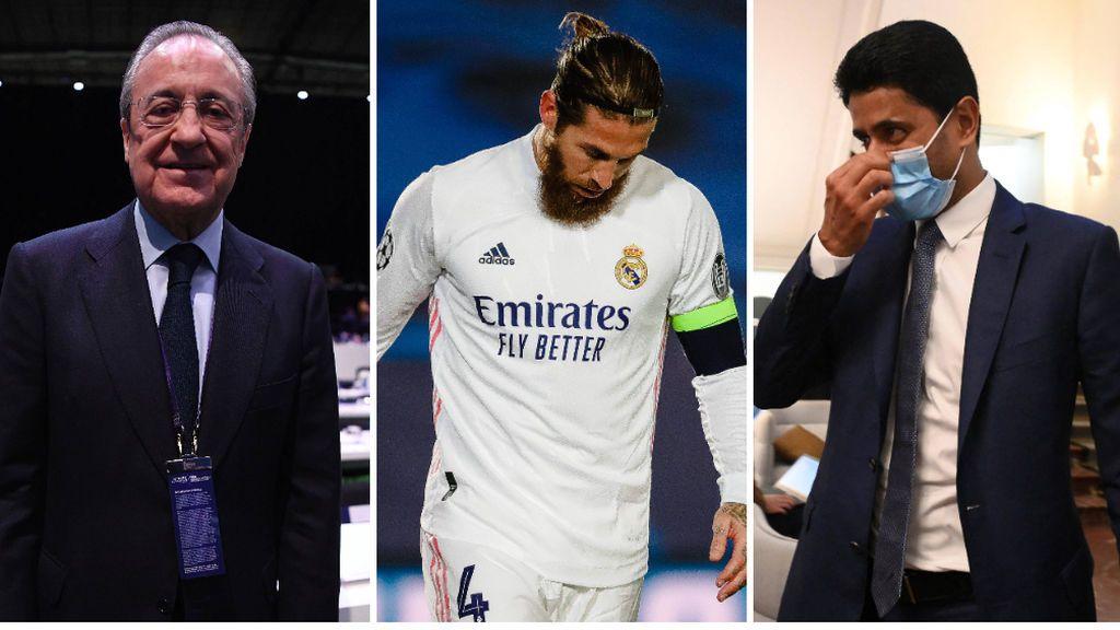 La promesa de Al-Khelaïfi a Florentino Pérez: no negociará con Sergio Ramos mientras sea jugador del Real Madrid