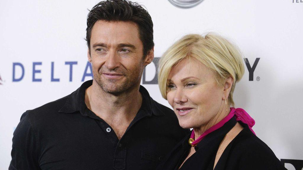 Hugh Jackman con su mujer