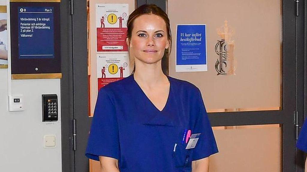 Sofia Hellqvist, de Suecia, trabajó como voluntaria en un hospital.