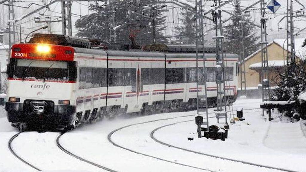 Suspendida la circulación de varios trenes de ancho convencional y alta velocidad por 'Filomena'