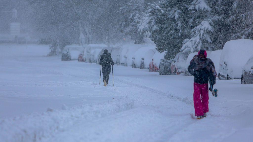 La nevada provocada por 'Filomena' ha sido la más abundante en Madrid desde al menos 1971, según la Aemet