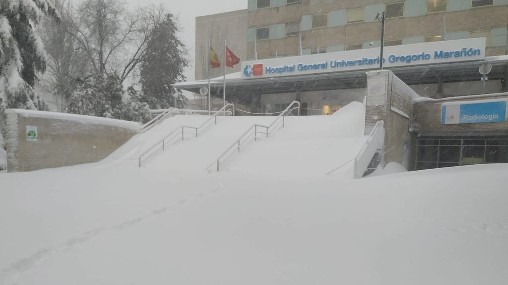 La situación en los hospitales de Madrid por la nevada