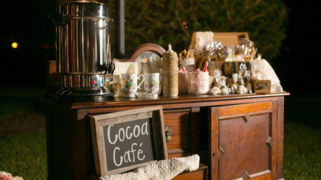 El Hot Chocolate Bar será ideal para una boda en invierno.