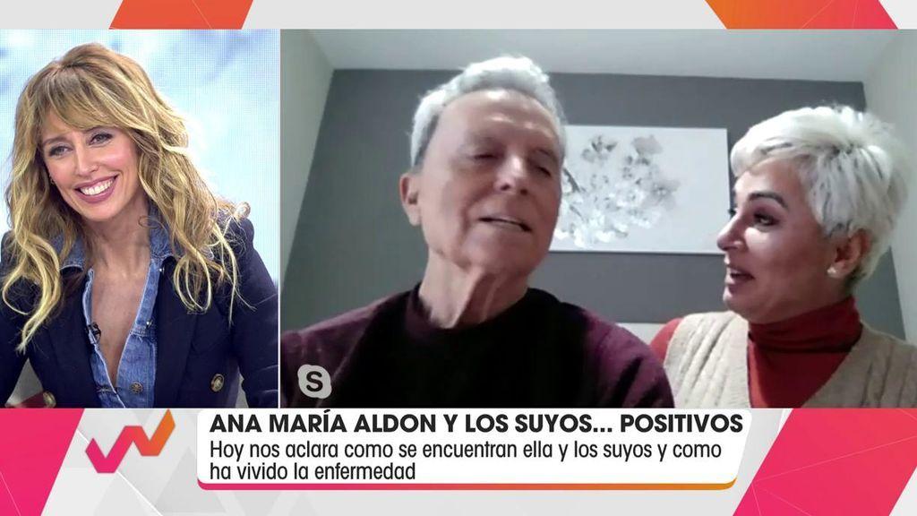 Emma García charla en directo con la pareja.