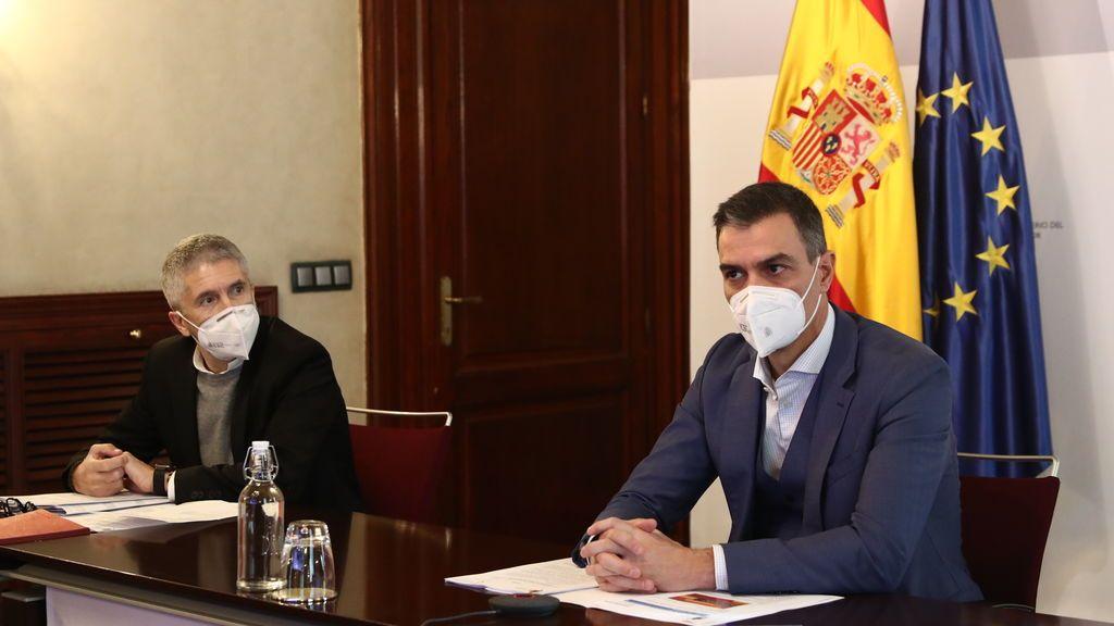 Sánchez, en la reunión del CECOD del Sistema Nacional de Protección Civil