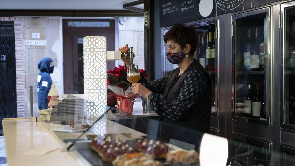 Trabajadora de la hostelería en Logroño