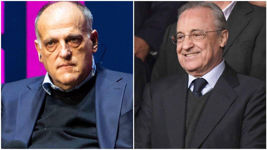 Tebas y Florentino no mantienen un buena relación.