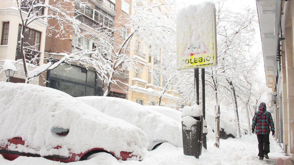 Madrid prorroga el cierre de los colegios por los efectos de Filomena