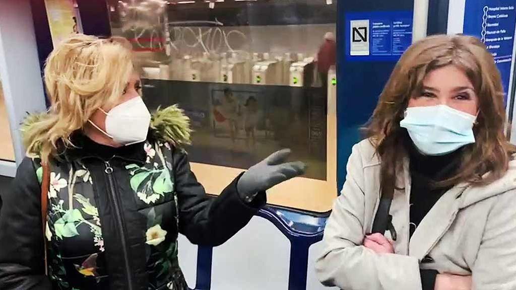 """Los colaboradores, a pie bajo la nevada y a casa en Metro: """"Dejasteis tirada a Chelo Gª Cortés"""""""