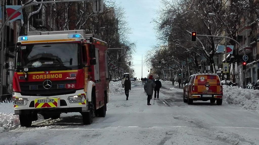 La mitad de las intervenciones del Samur en Madrid son por caídas con el hielo