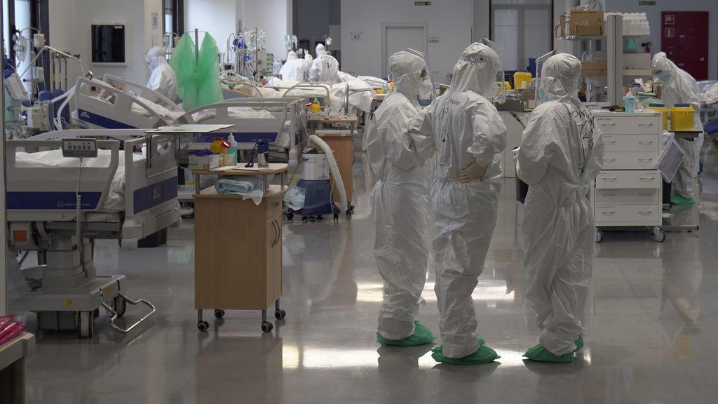 Los hospitalizados por covid suben en más de 5.000 desde Nochevieja