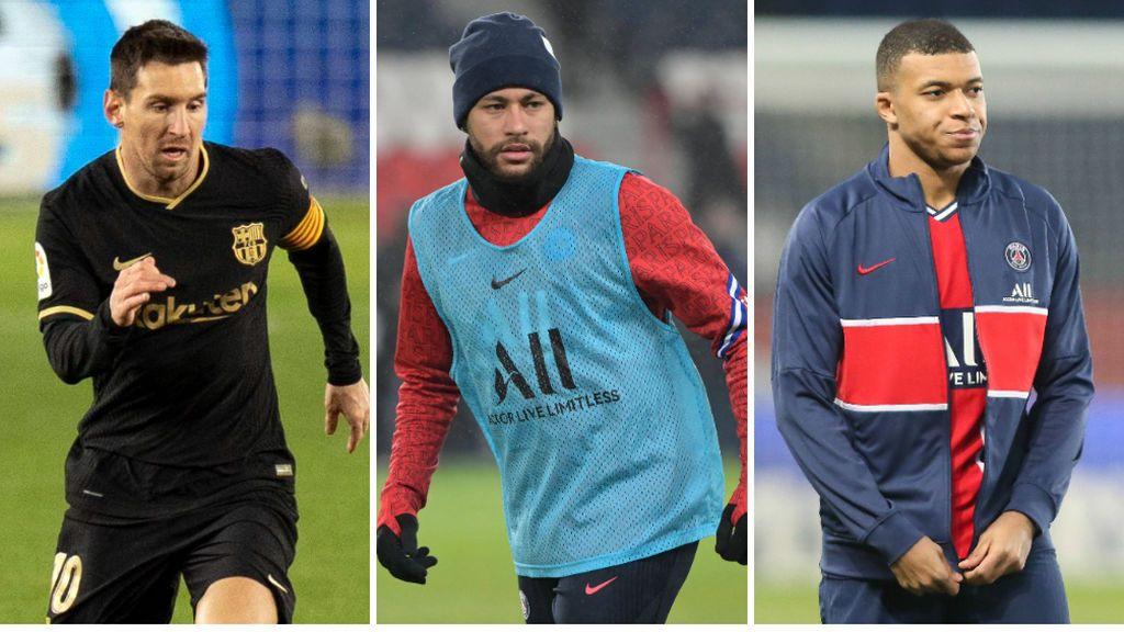 La dirección deportiva del PSG estudia un plan económico para hacer frente a los salarios de Messi, Neymar y Mbappé