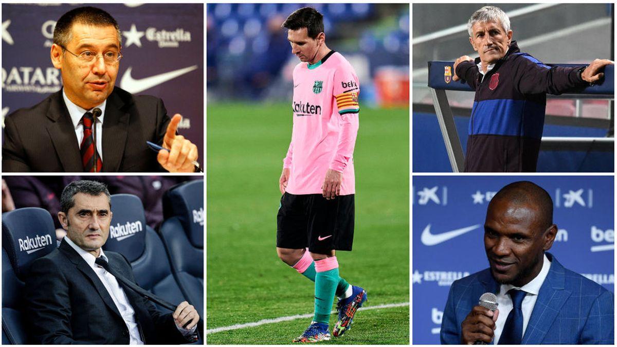 El año de los 'infiernos' del Barcelona: del despido de Valverde, a las rajadas de Messi en apenas 365 días