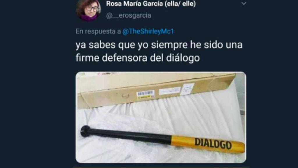 Publicación de Rosa María García en respuesta a Lucía Etxebarría