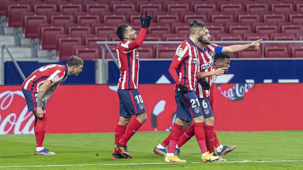 El Atleti, campeón de invierno: victoria rojiblanca con goles de Correa y Saúl ante el Sevilla (2-0)