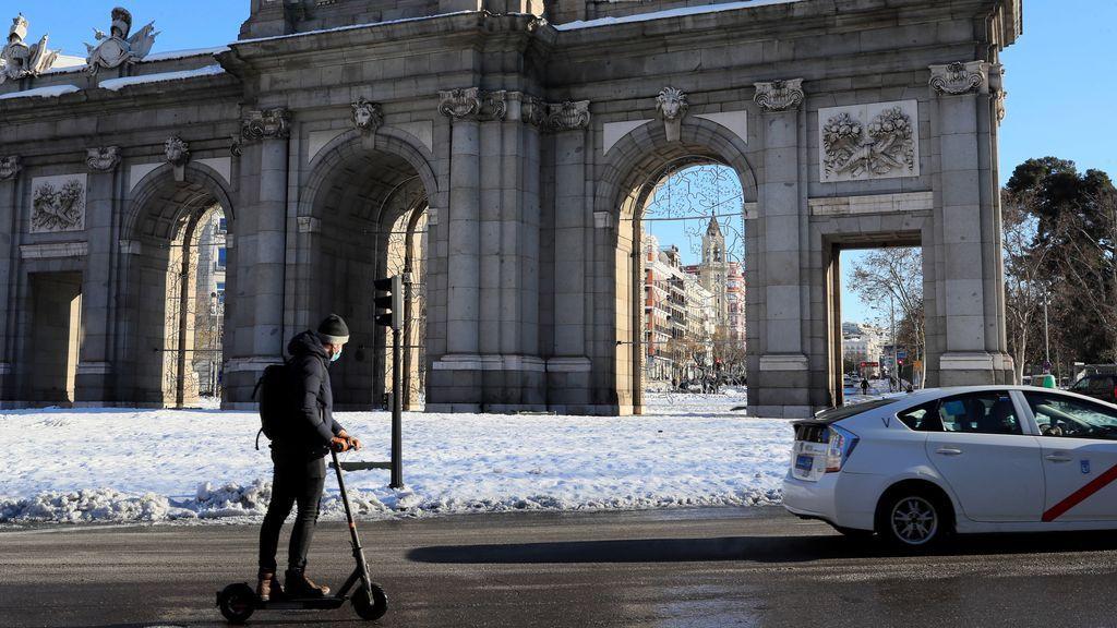 Madrid pasa la noche más fría de su historia
