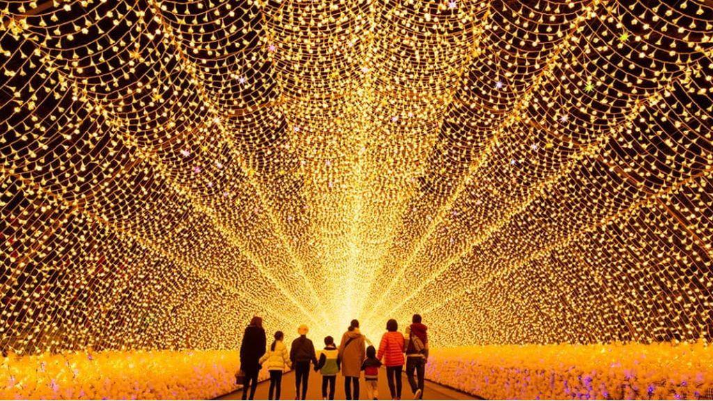El espectáculo de luces de Japón