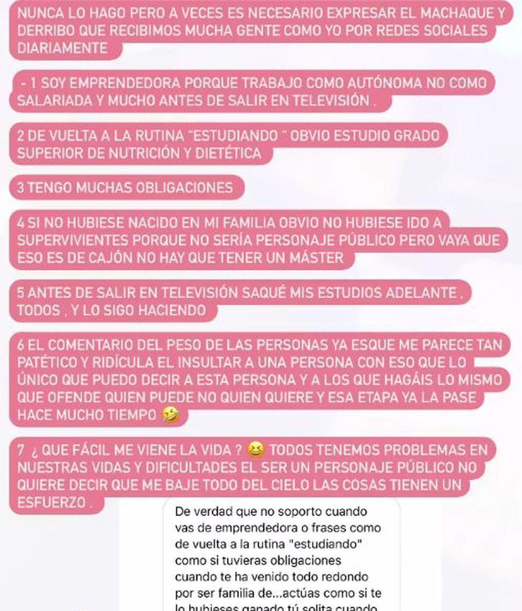 Rocio Flores texto