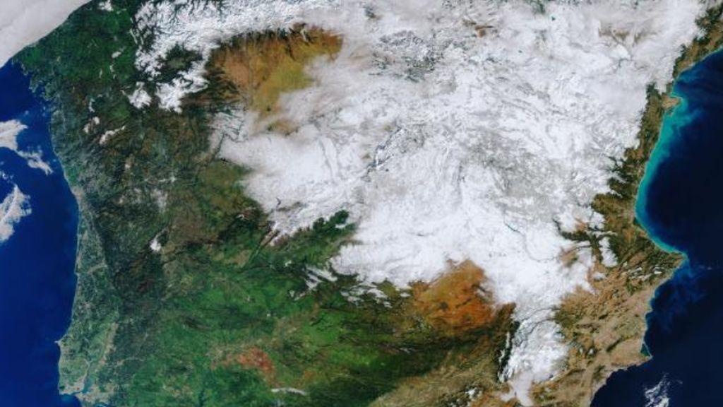 La Nevada de España vista desde el espacio