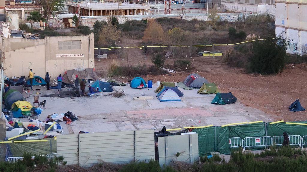 Imagen aérea del campamento