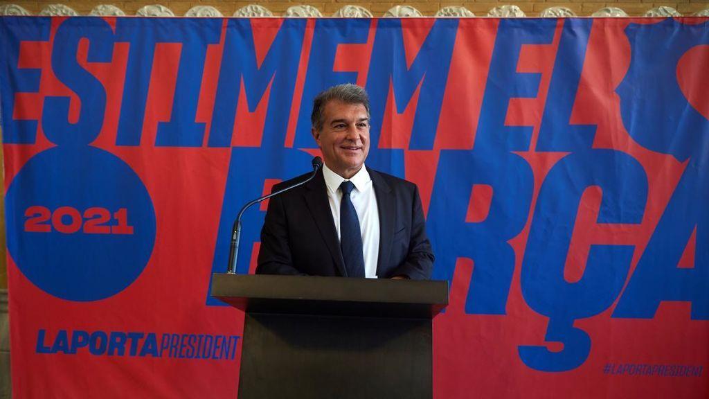 """Laporta presenta su programa económico y alerta de la mala situación actual: """"Todo es deuda"""""""
