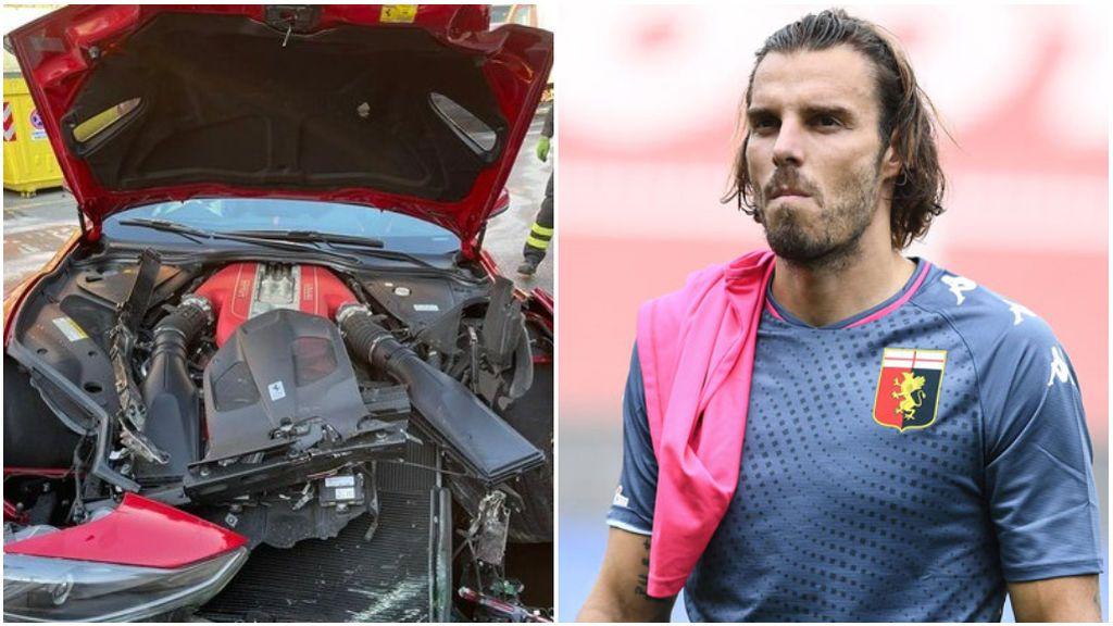 Lleva su Ferrari a lavar y termina totalmente destrozado: el drama de Marchetti, portero del Genoa