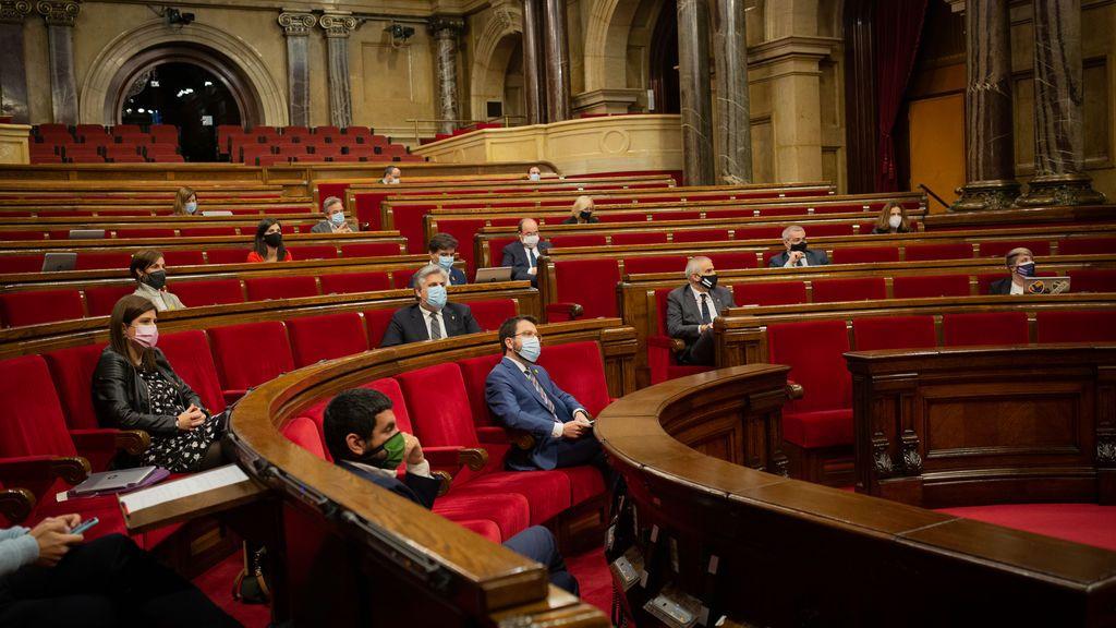 Sesión de control en el Parlament de Cataluña